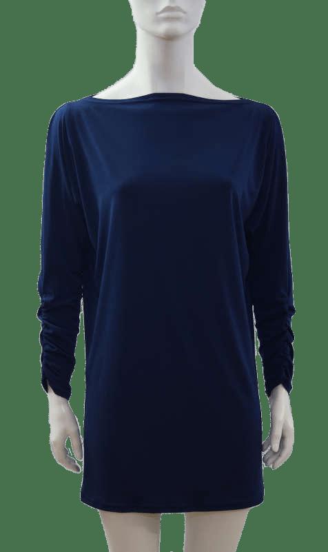 Vestita tunique robe marine tunic dress navy blue