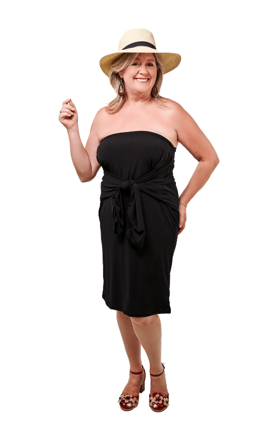 Vestita tunique robe noire black tunic dress  look 3